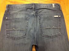 7 FOR ALL MANKIND standard BUTTON FLY JEANS ACTUAL SZ 35 x 34 Tag 33 BEST W58