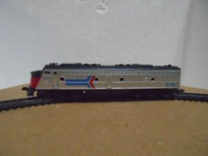 N scale Amtrack Locomotive and 3 coaches