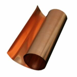 Rotolo Nastro 99,9% Rame Puro Lamiera Laminata 0,1 X 200 X 2000 mm professionale