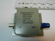Ps430.9 Merrimac Phase Shifter 50 Ohms Impedance Bnc New Old Stock