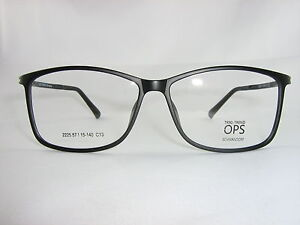 Große Kunststoffbrille Herren ultra leicht schwarz + incl. Sehstärke + NEU