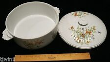 BUTTERFLY CASSEROLE COVERED DISH W/LID  ECSTASY PATTERN SHAFFORD COMPANY CHINA