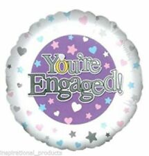 Edge YOU'RE ENGAGED Engagement Congratulations Round Holographic Helium Fill 18""