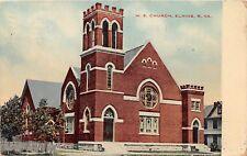 D68/ Elkins West Virginia WV Postcard 1912 M.E. Church Building