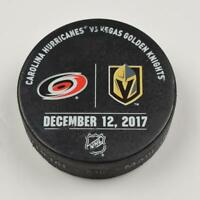 Vegas Golden Knights Warm Up Puck Used 12/12/17 VGK Vs Carolina Hurricanes Game