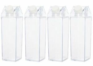 Clear Plastic Milk Carton Water Bottle - (2 Pack)