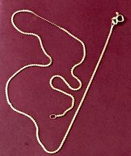 "Vintage 14k UNOAERRE Solid Gold S Snake Serpentine Chain Link Necklace 15"" 2.29g"