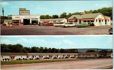 PORT TREVORTON, PA Pennsylvania  PORT DINER , GAS STATION  Roadside c1960s *