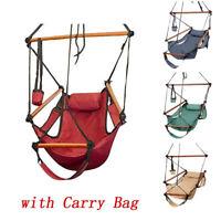 250lb Solid Wood Hanging Hammock Chair Air Deluxe Sky Swing Outdoor Home Garden