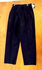 NEW Women Liz Claiborne Petite Dress Slacks Size 8 Black Clips to adjust waist