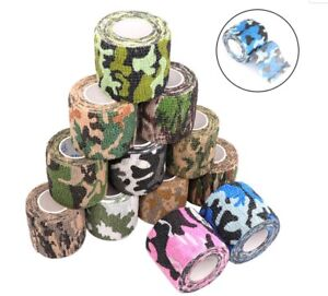 (1,32€/m) 1 - 7er SET TARNBAND Klebeband Gewebeband Camouflage Camo Tape Band