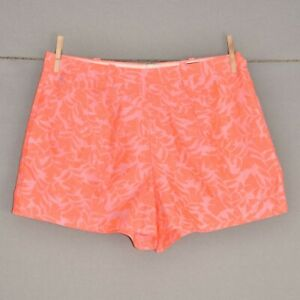 J.CREW NEW $68 Tap Short in Neon Coral Jacquard Size 8