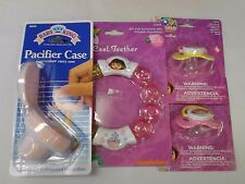 Baby Dora the Explorer (Lot of 4) 2 Pacifiers, Case, & Teether Brand New Nip