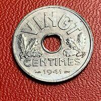 #3808 - RARE - VINGT Centimes 1941 SPL Rare qualité - FACTURE
