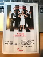 BLONDIE - PARALLEL LINES - ORIGINAL MAGAZINE ADVERT - 1979 - VGC - RARE
