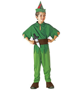 Boys Peter Pan Robin Hood World Book Day Fancy Dress Costume Ages 5-13