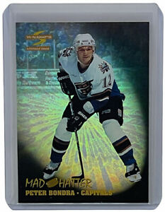 Peter Bondra 1995-96 Pinnacle Summit Mad Hatter Insert Hockey Card Capitals #11