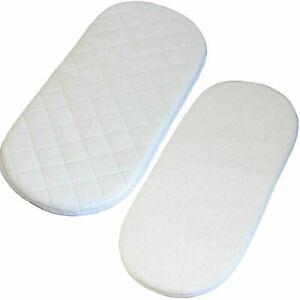 Super Soft 80 x 40 Baby Moses Pram Basket Mattress Extra Thick Comfy Cushy