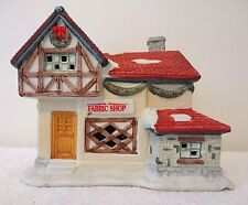 Dickens Collectables Fabric Shop Village Christmas House Holiday Expressions