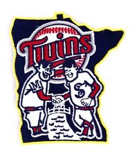 Minnesota Twins State Embroidered Logo Patch Yellow Boarder