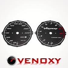 Honda XL 1000V Varadero SD02 03-12 EXCLUSIV Tachoscheiben Tacho SCHWARZ