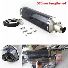 570mm Universal Carbon Fiber Motorcycle Exhaust Muffler Pipe DB Killer 38-51mm