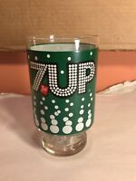 """Vintage 7-Up Tumbler Glass 7"""" Tall"""