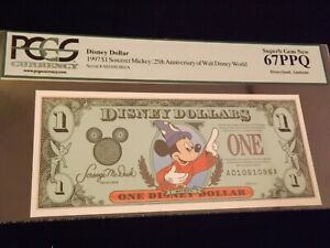1997 $1  Sorcerer Mickey  25 Th Anniversary    PCGS  67 PPQ