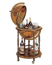 Antique Finish New Italian Zoffoli Globe Mini Bar Bottles Gles Tabletop