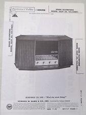 Sams Photofact Folder Radio Parts Manual Sears Silvertone 2039 (Ch. 132.52801)