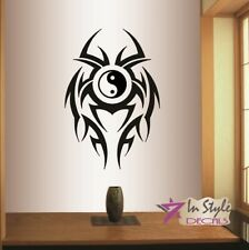 Vinyl Decal Yin Yang Symbol in Tribal Ornament Wall Sticker Mural Decor 1925