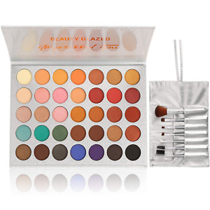 Limited Edition Bestland Morphe 35 Color Eye shadow Palette Makeup Brushes