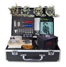 Complete Tattoo Starter Kits 4 machines needles tips grip Supply Equipment new