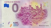 BILLET 0  EURO CASTELO DE MARVAO  PORTUGAL 2018  NUMERO 1000