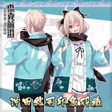 Fate Okita Souji Japanese Anime Kimono Unisex Haori Bathrobe Coat Jacket Cosplay
