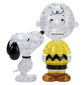 Crystal 3D Puzzle Snoopy & Charlie Brown 77 pieces BEVERLY 50274 F/S