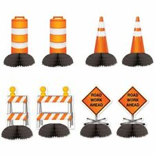 """Construction Mini Centerpieces 8 Pack 5"""" Construction Boy Birthday Party"""