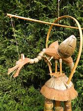 In legno Windchime Carving-Intagliati a Mano in bambù Gong Dragon Design