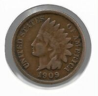 USA Rare Very Old Antique 1909 US Indian Head Penny Cent Collection Coin Lot i43