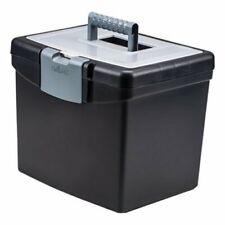 Storex Portable File Box Withlg Organizer Lid 13 14 X 10 78 X 11 Stx61504u01c