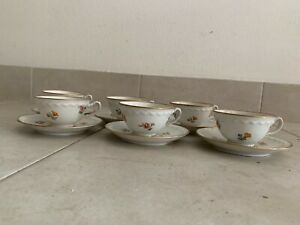 Servizio di porcellana da caffe per 6 persone Richard Ginori