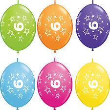 Qualatex 44887 12 Quicklink Age 6 Stars Tropical Assortment Latex Balloons 50ct