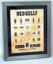LIMITED EDITION FRAMED SET OF 20 NED KELLY COLLECTABLE PINS PIN NUMBERED FRAME