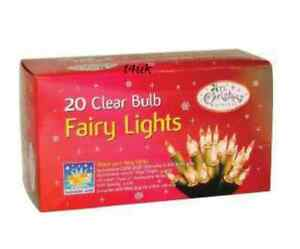 NEW XMAS PARTY/ DECORATION 20 CLEAR FAIRY LIGHTS 5.2m