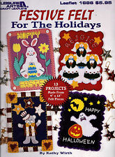 Festive Felt for the Holidays Christmas Angels Stockings & More Pattern Book NEW