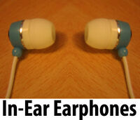2 x IN EAR EARPHONES HEADPHONE PAIR FOR IPOD IPAD MP3 MP4 TOUCH IPHONE 4 4S 5 UK