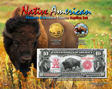 24K Gold Plated & Colorized Buffalo $50 Tribute Coin 2 Coin Set - Bison
