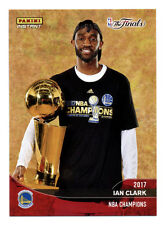 2016-17 PANINI INSTANT WARRIORS CHAMPIONS IAN CLARK 2017 NBA FINALS TROPHY!