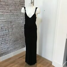 Philosophy di Alberta Ferretti Black Evening Suit Long Skirt Sleeveless Top 44 8
