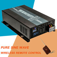 Pure Sine Wave Power Inverter 2500W DC to AC 12/24V to 120/220V Remote control